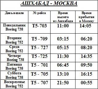 работа москва ашхабад расписание самолетов внимание ваше здоровье